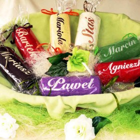 Ręczniki haftowane -  z imionami