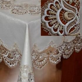 Tekstylia stołowe - Obrusy - Gipiurowe - Złote